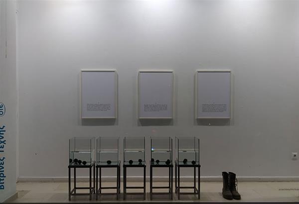 Eικαστική εγκατάσταση του Χρήστου Κεραμάρη στις Βιτρίνες Τέχνης του ΟΤΕ