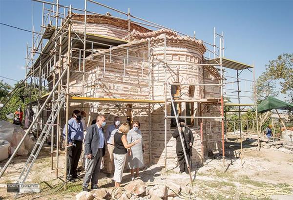Χορτιάτης: Αποκατάσταση του βυζαντινού μνημείου Ι. Ν. Μεταμόρφωσης του Σωτήρος