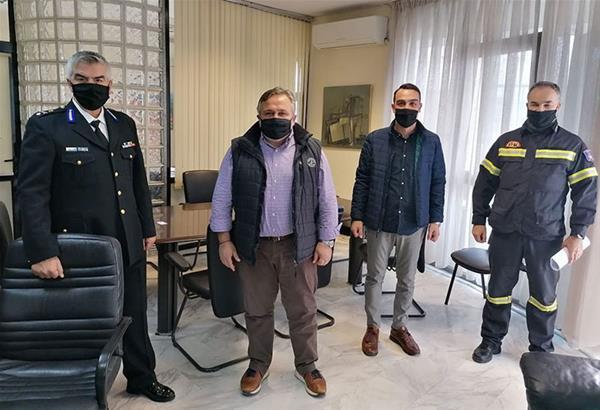 Συνεργασία του Δήμου Κορδελιού-Ευόσμου με την Πυροσβεστική