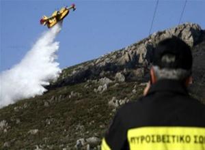 Πυρκαγιά σε δασική έκταση στον Αρμενιστή στη Σιθωνία