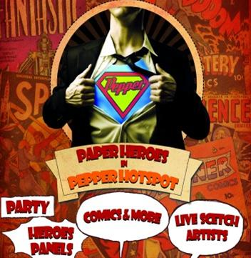 Έκθεση κόμικς «Paper heroes» στο Pepper Hot Spot