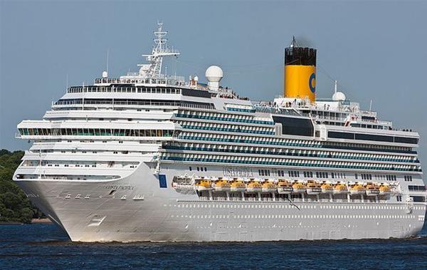 Το Costa Pacifica σήμερα στο λιμάνι της Θεσσαλονίκης
