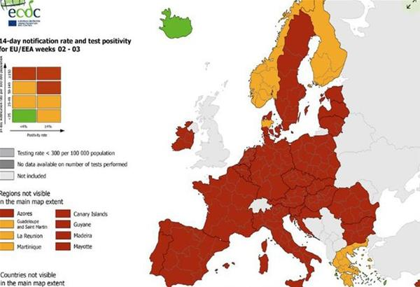 ECDC: Τί αλλάζει στις μετακινήσεις εντός της ΕΕ- Τα νέα περιοριστικά μέτρα του Ευρωπαϊκού Συμβουλίου