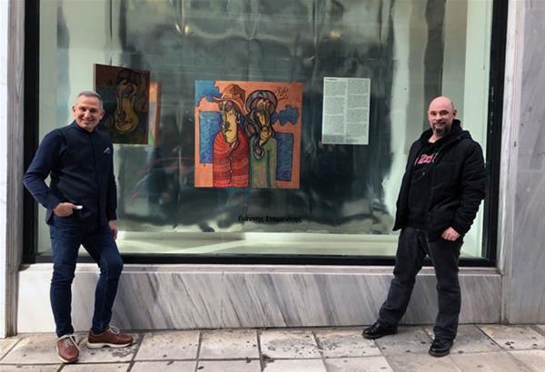 Παρουσίαση του εικαστικού Γιάννη Σταμενίτη στις βιτρίνες τέχνης του ΟΤΕ Θεσσαλονίκης