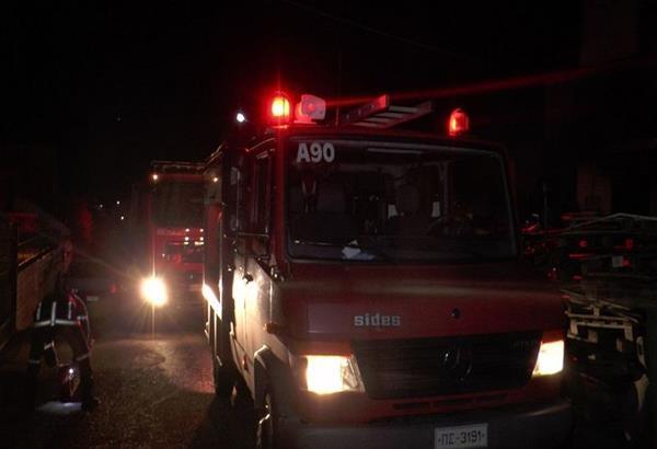 Φωτιά σε λεωφορείο του ΟΑΣΘ τα ξημερώματα