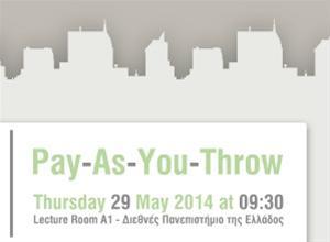 Pay As You Throw: Εκδήλωση για τη Διαχείριση Απορριμμάτων