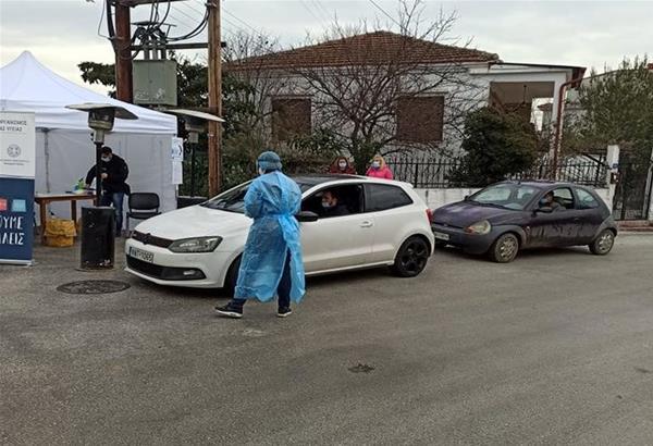 Ωραιόκαστρο: Ολοκληρώθηκαν τα drive through rapid test στη Λητή