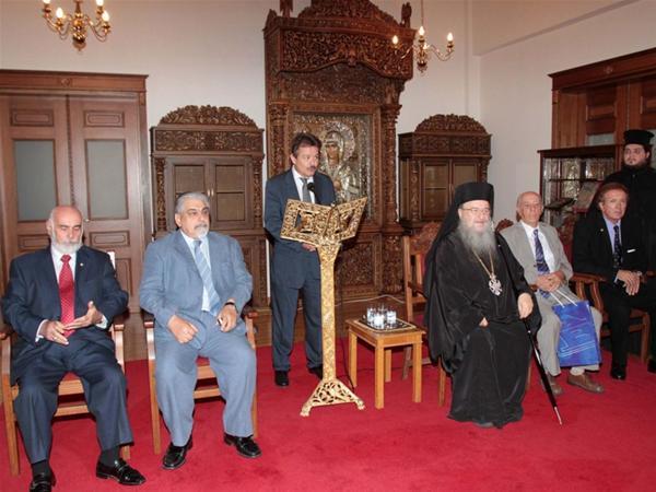 Απονομή Μεταλλίου στον Παναγιώτατο Μητροπολίτη Θεσσαλονίκης