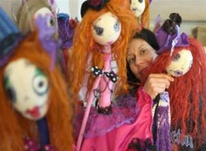 Έκθεση Χειροποίητης Κούκλας Μαριονέττας της Ντόμινι Λυμπέρη