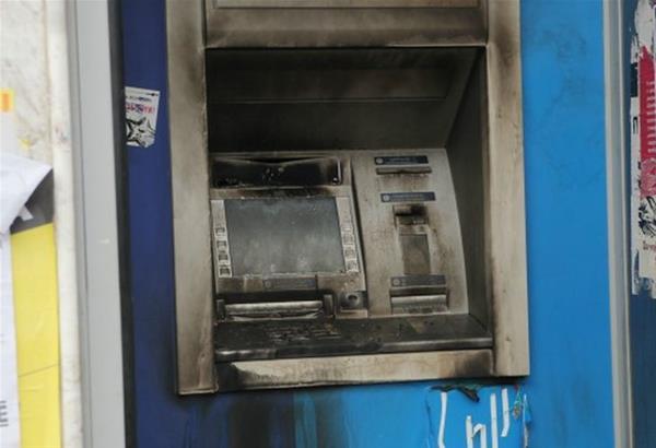 Ακόμη ένας εμπρησμός σε ΑΤΜ τράπεζας στη Θεσσαλονίκη, ο τέταρτος μέσα σε μία εβδομάδα