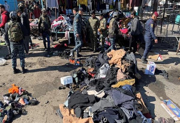 Βαγδάτη: Η στιγμή της διπλής βομβιστικής επίθεσης στην αγορά (βίντεο)