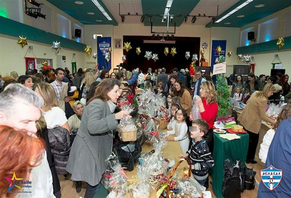 Με μεγάλη επιτυχία πραγματοποιήθηκε το Χριστουγεννιάτικο μπαζάρ του κολεγίου ΔΕΛΑΣΑΛ