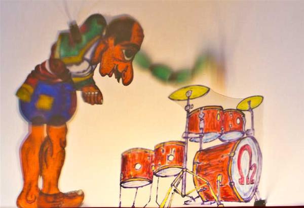 Ο Καραγκιόζης Drummer στη μικρή Αυλαία της Χ.Α.Ν.Θ.