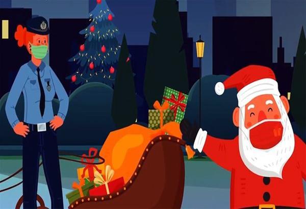 Το ξεχωριστό σποτ της ΕΛ.ΑΣ  για τα Χριστούγεννα με τον Αγιο Βασίλη να πέφτει σε ..μπλόκο αστυνομικών. Βίντεο