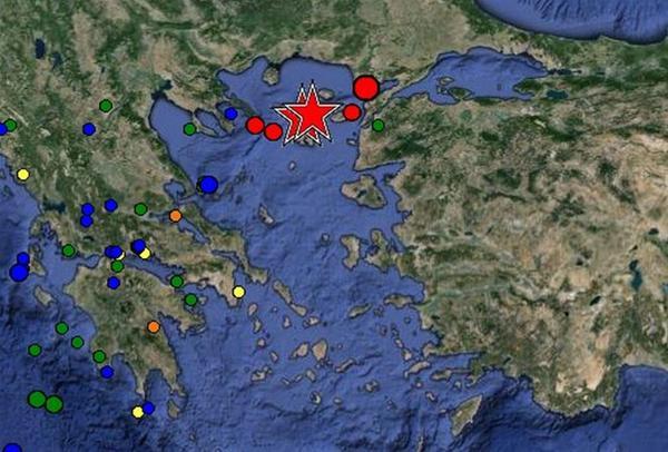 Μεγάλος σεισμός 6,3 ρίχτερ κοντά στη Λήμνο