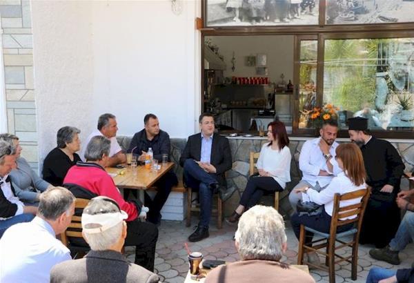 Επίσκεψη του Απόστολου Τζιτζικώστα σε περιοχές του Δήμου Σιθωνίας Χαλκιδικής