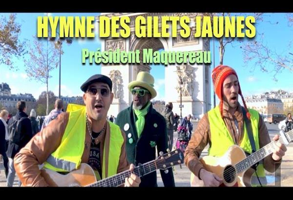 Τα κίτρινα γιλέκα και το τραγούδι ύμνος κατά του Μακρόν. Βίντεο
