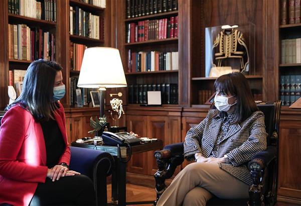Επίσκεψη Νίκης Κεραμέως στην Πρόεδρο της Δημοκρατίας