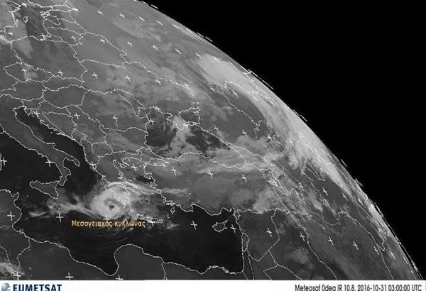 Από το βράδυ αναμένεται να πλήξει την Ελλάδα ο μεσογειακός κυκλώνας - Που θα ''χτυπήσει''