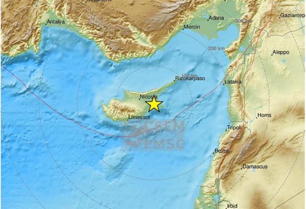 Κύπρος: Ισχυρός σεισμός 5,4 Ρίχτερ