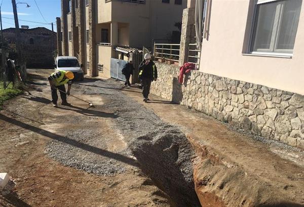 Κατασκευάζεται το αποχετευτικό δίκτυο στην κοινότητα Λακκιάς του δήμου Θέρμης