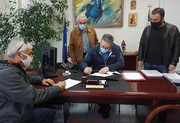 Ωραιόκαστρο: Υπογράφηκε η σύμβαση για την ανάπλαση της περιοχής του «Αθάνατου Νερού»