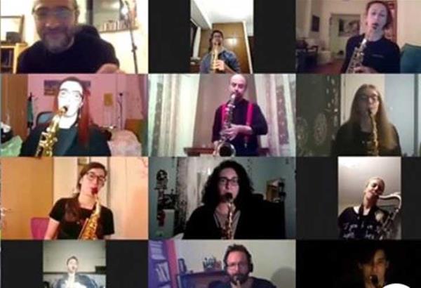 «Μένουμε σπίτι» με μουσική από τους kuKluxSax του Δημοτικού Ωδείου Θέρμης