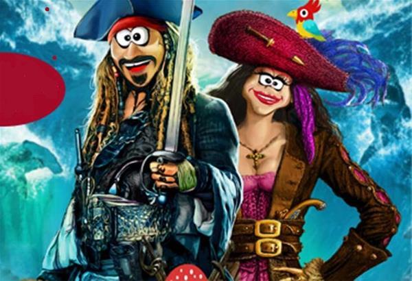 Ξέφρενο αποκριάτικο πάρτυ με τους Πειρατές των χρωμάτων
