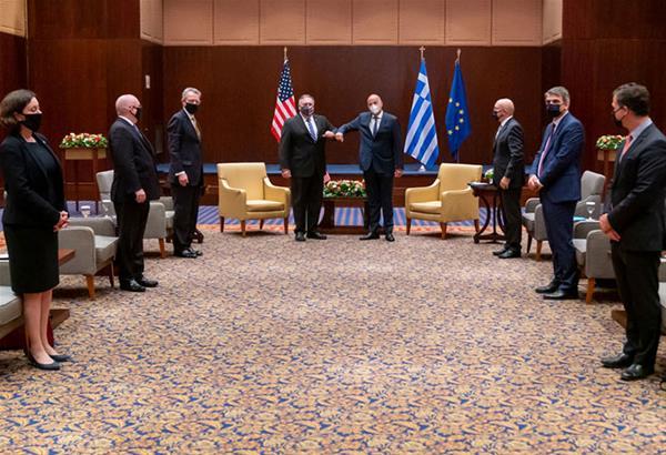 Πομπέο: Οι σχέσεις Ελλάδας-ΗΠΑ είναι ισχυρές, συζητήσαμε την αποκλιμάκωση στην ανατολική Μεσόγειο