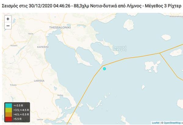Σεισμός χαμηλής έντασης ξημερώματα στη Χαλκιδική