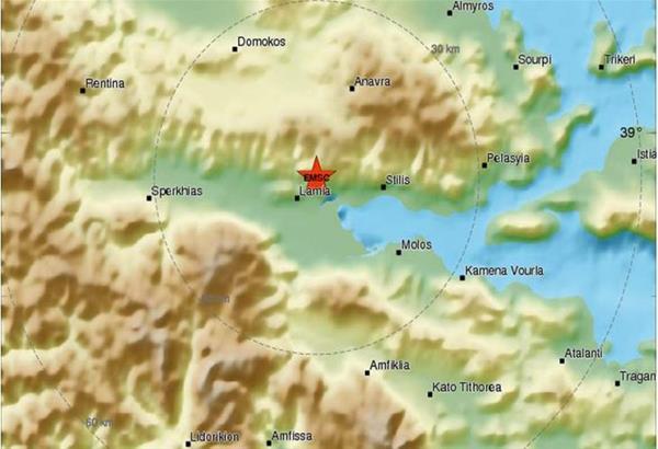 Έκτακτο : Σεισμός 4,7 Ρίχτερ κοντά στη Λαμία