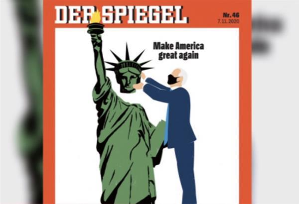 Eξώφυλλο Der Spiegel: Ο Μπάιντεν βάζει πίσω το κεφάλι στο Άγαλμα της Ελευθερίας