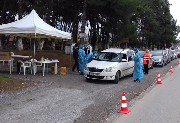 Δήμος Θέρμης: Αρνητικά όλα τα σημερινά 185 drive through rapid test - Συνεχίζονται 2 και 3 Φεβρουαρίου