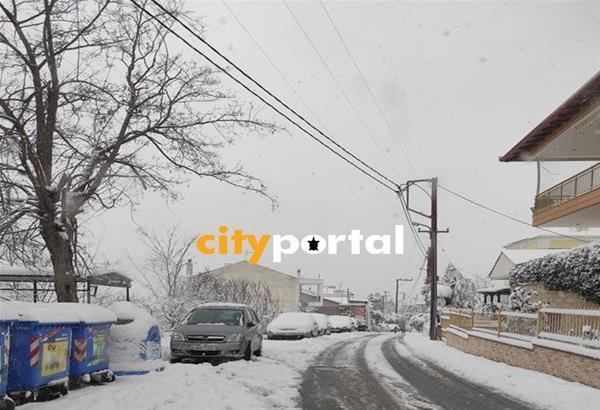 Χωρίς ρεύμα πολλές περιοχές στην Ανατολική Θεσσαλονίκη λόγω του χιονιά