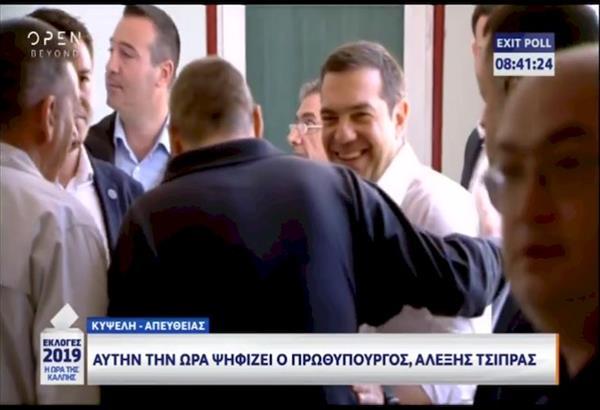 Εκλογές 2019: Ψήφισε στην Κυψέλη ο Αλέξης Τσίπρας