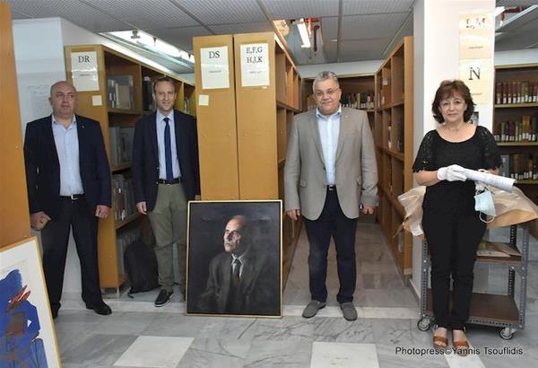 Πολύτιμα τεκμήρια της συλλογής του Ντίνου Χριστιανόπουλου παρουσιάστηκαν στη Βιβλιοθήκη του ΑΠΘ