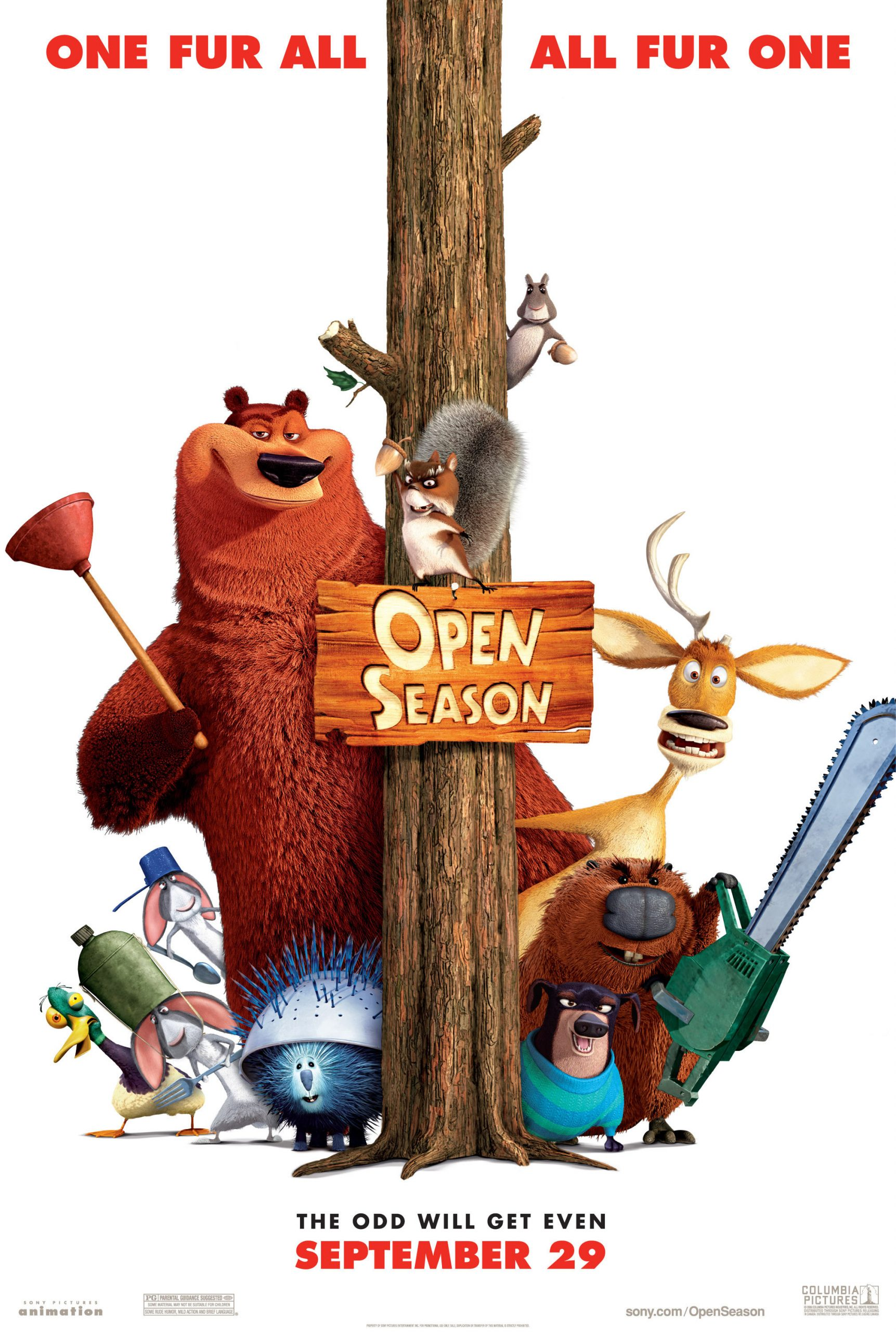Πόστερ της ταινίας «Οι ήρωες του δάσους (2006) | Open Season»