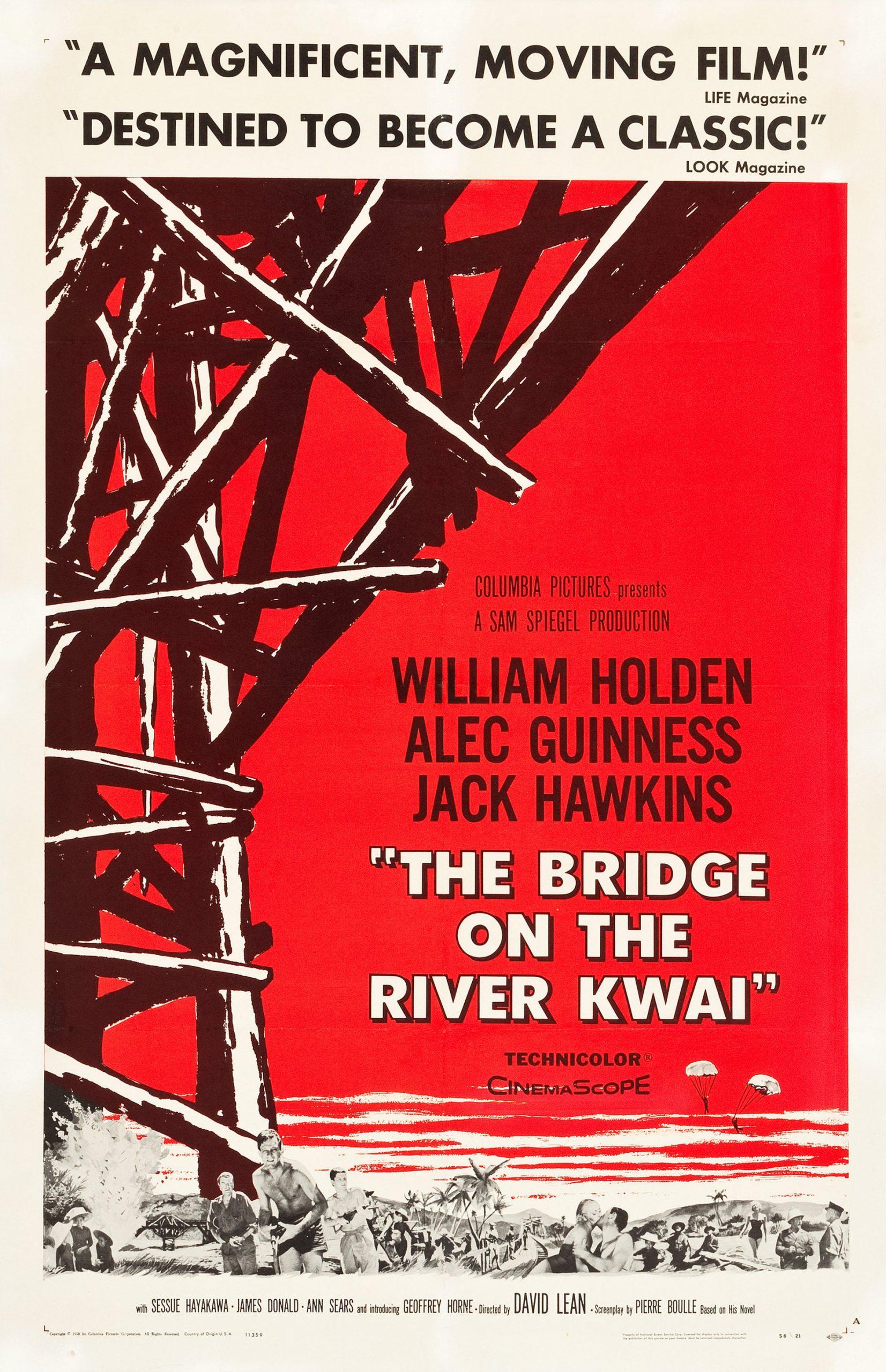 Πόστερ της ταινίας «Η γέφυρα του ποταμού Κβάι (1957)»