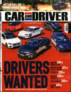 Πρωτοσέλιδο του εντύπου «ΠΑΡΑΠΟΛΙΤΙΚΑ - CAR AND DRIVER» που δημοσιεύτηκε στις 01/07/2021