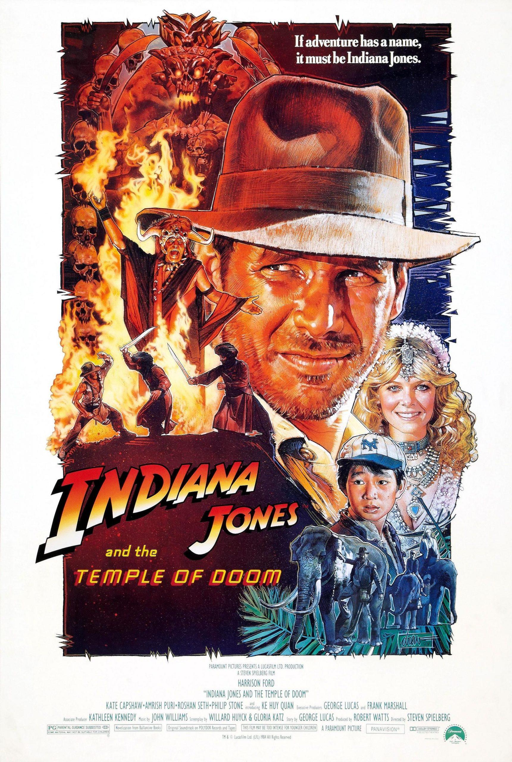 Πόστερ της ταινίας «Ιντιάνα Τζόουνς και ο Ναός του Χαμένου Θησαυρού (1984)»