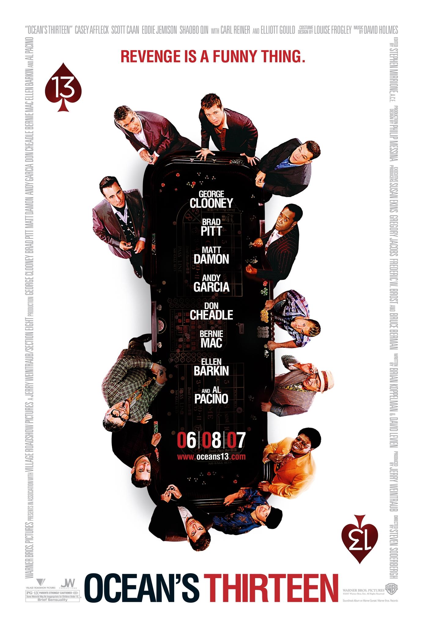 Πόστερ της ταινίας «Η Συμμορία των Δεκατριών (2007)   Ocean's Thirteen»