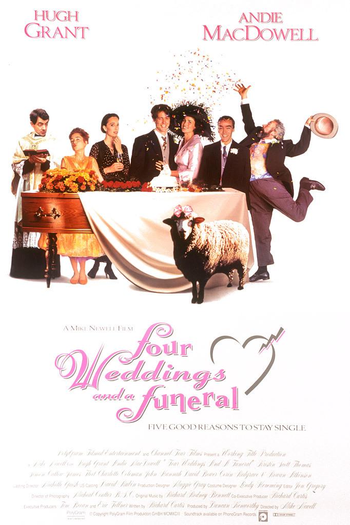 Πόστερ της ταινίας «Τέσσερις Γάμοι και Μία Κηδεία (1994)»