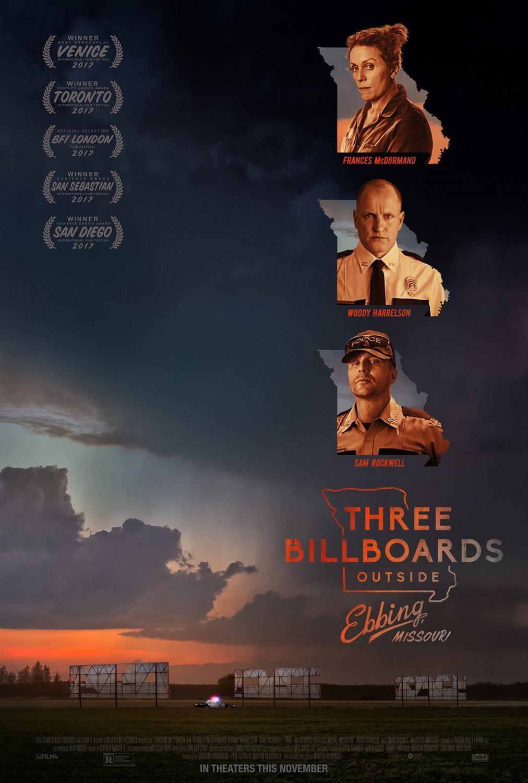 Πόστερ της ταινίας «Οι Τρεις Πινακίδες Έξω από το Έμπινγκ, στο Μιζούρι (2017)»