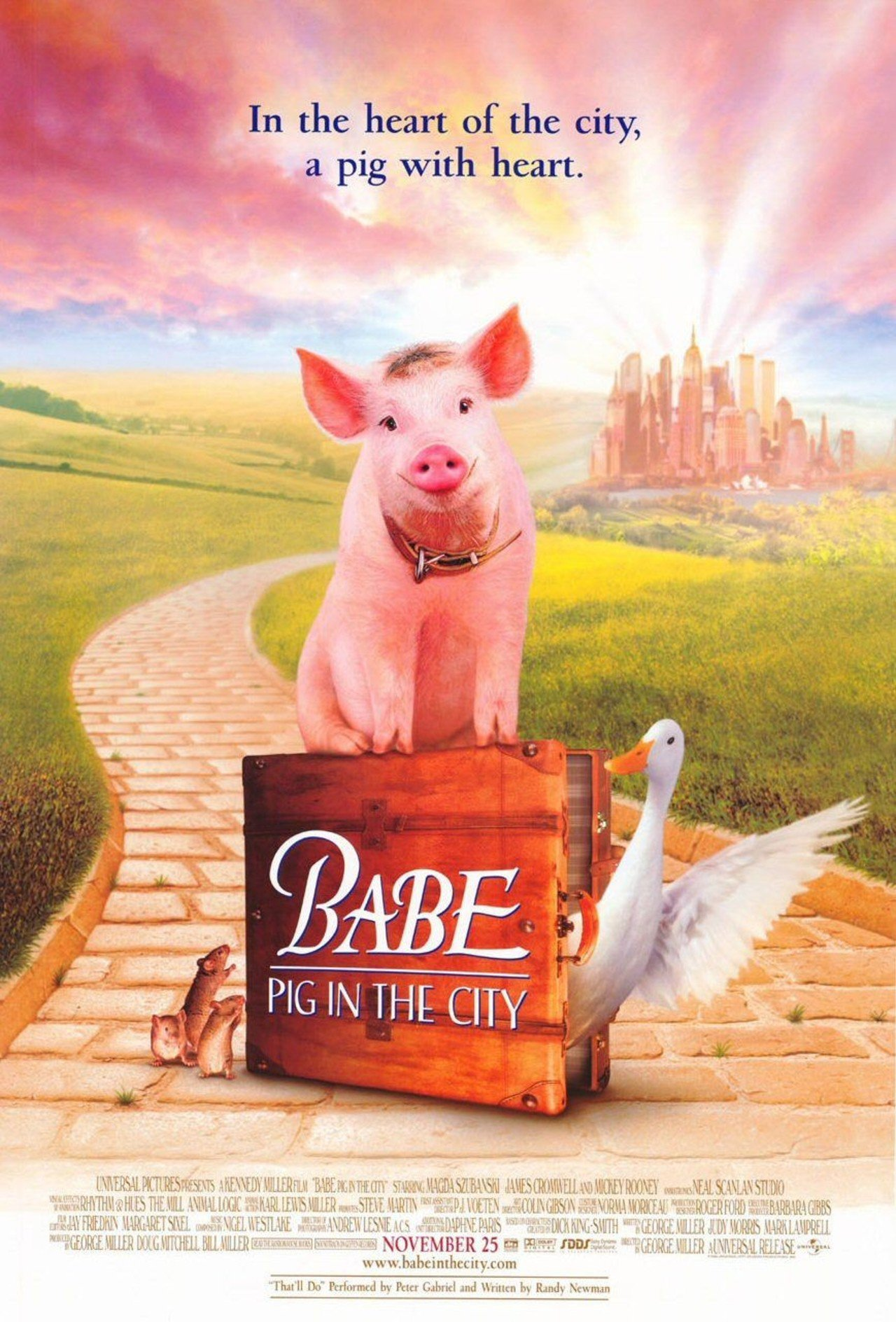 Πόστερ της ταινίας «Μπέιμπ: Το Μικρό Γουρουνάκι στη Μεγάλη Πόλη (1998)»