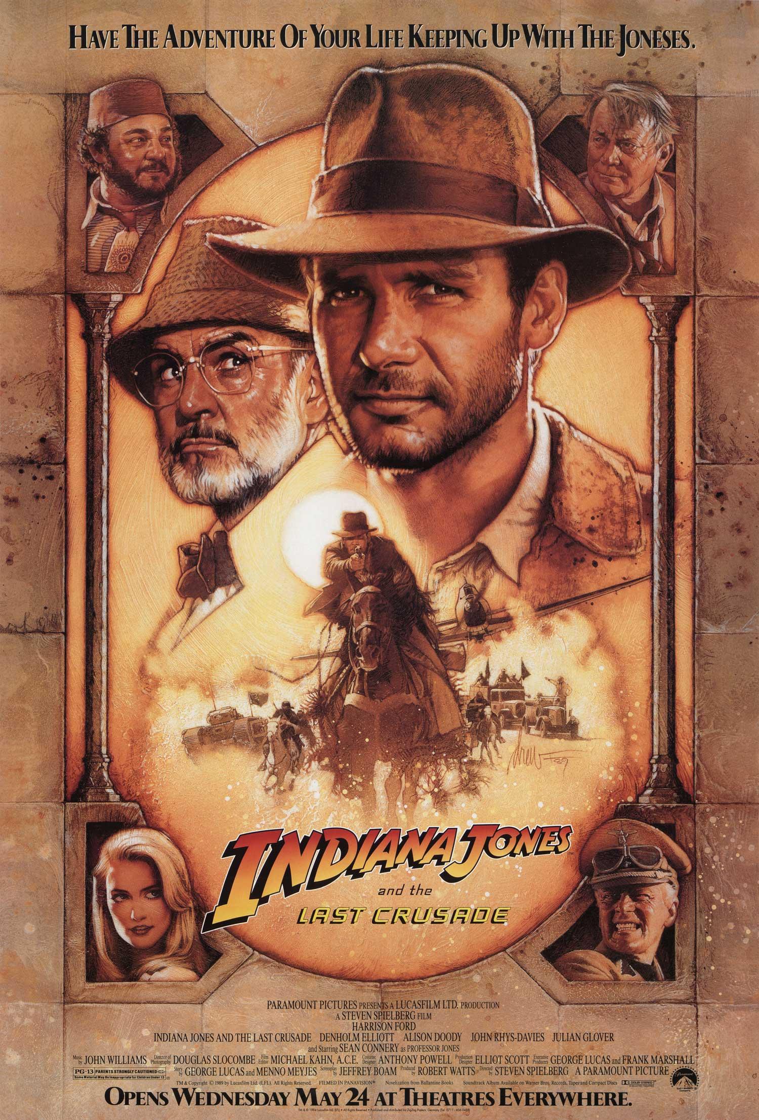 Πόστερ της ταινίας «Ο Ιντιάνα Τζόουνς και η Τελευταία Σταυροφορία (1989)»