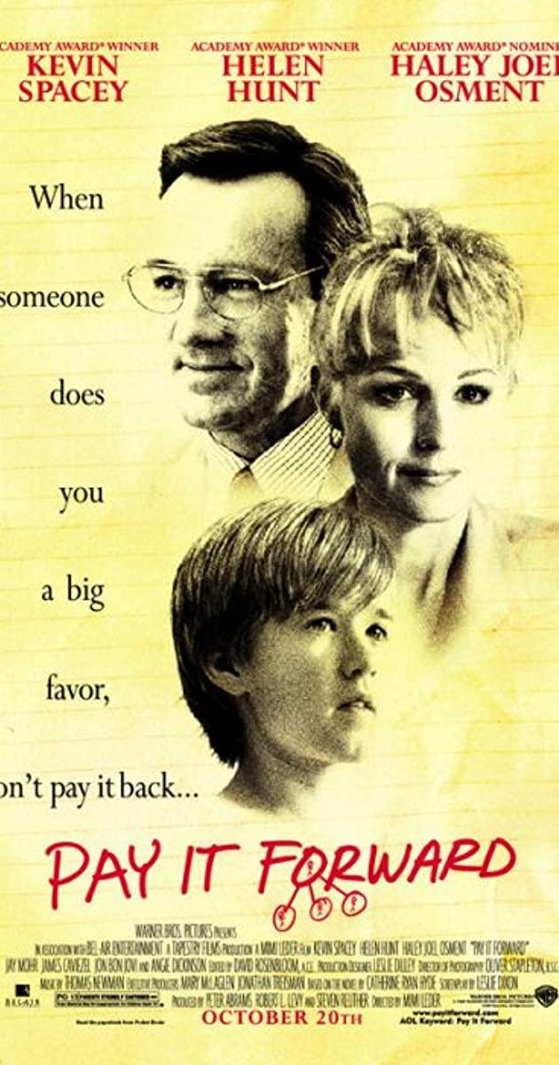 Πόστερ της ταινίας «Χωρίς Αντάλλαγμα (2000)   Pay It Forward»