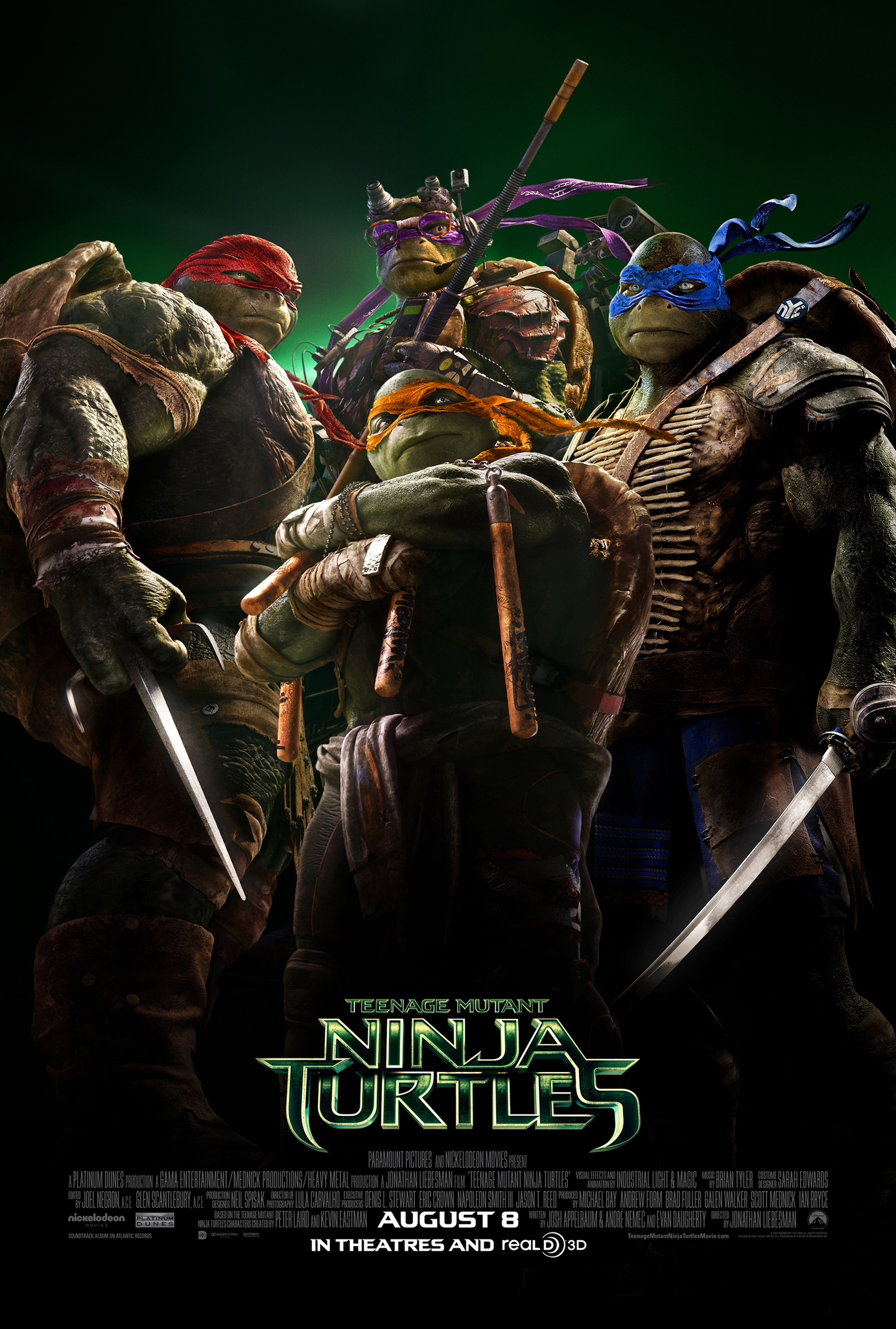 Πόστερ της ταινίας «Τα Χελωνονιντζάκια (2014) | Teenage Mutant Ninja Turtles»