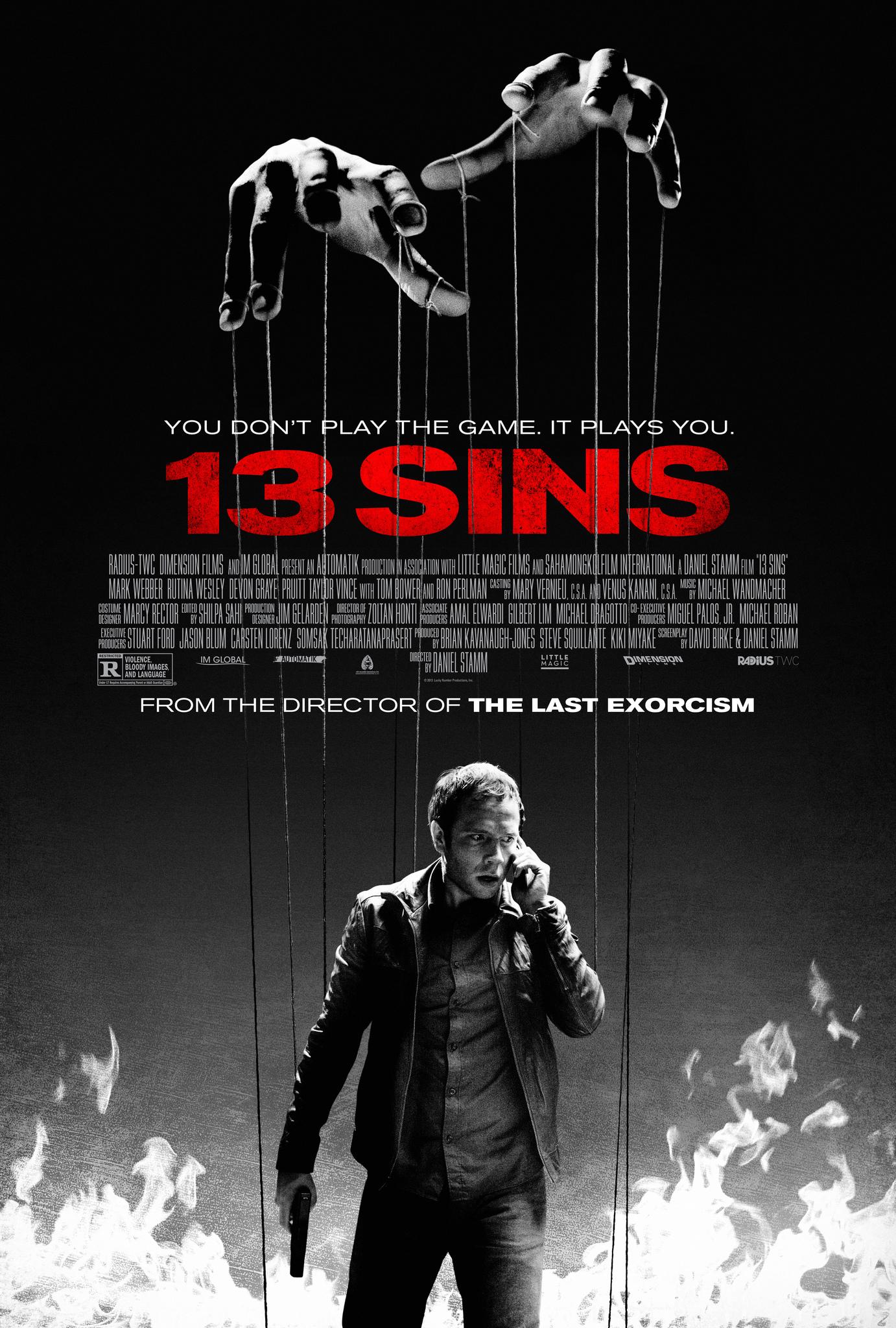 Πόστερ της ταινίας «13 Αμαρτίες (2014) | 13 Sins»
