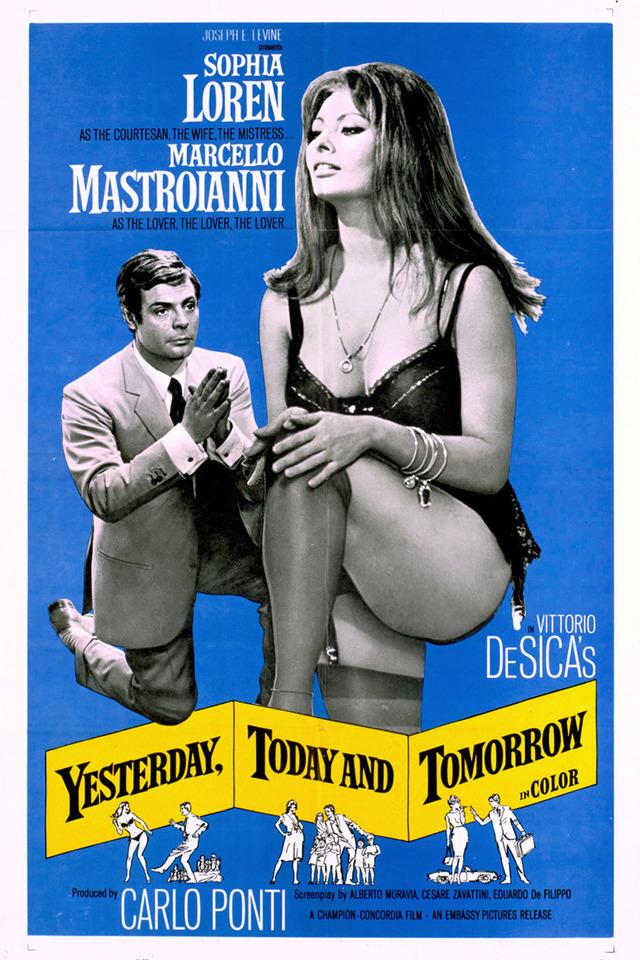 Πόστερ της ταινίας «Χθες, σήμερα, αύριο (1963)   Yesterday, Today and Tomorrow»