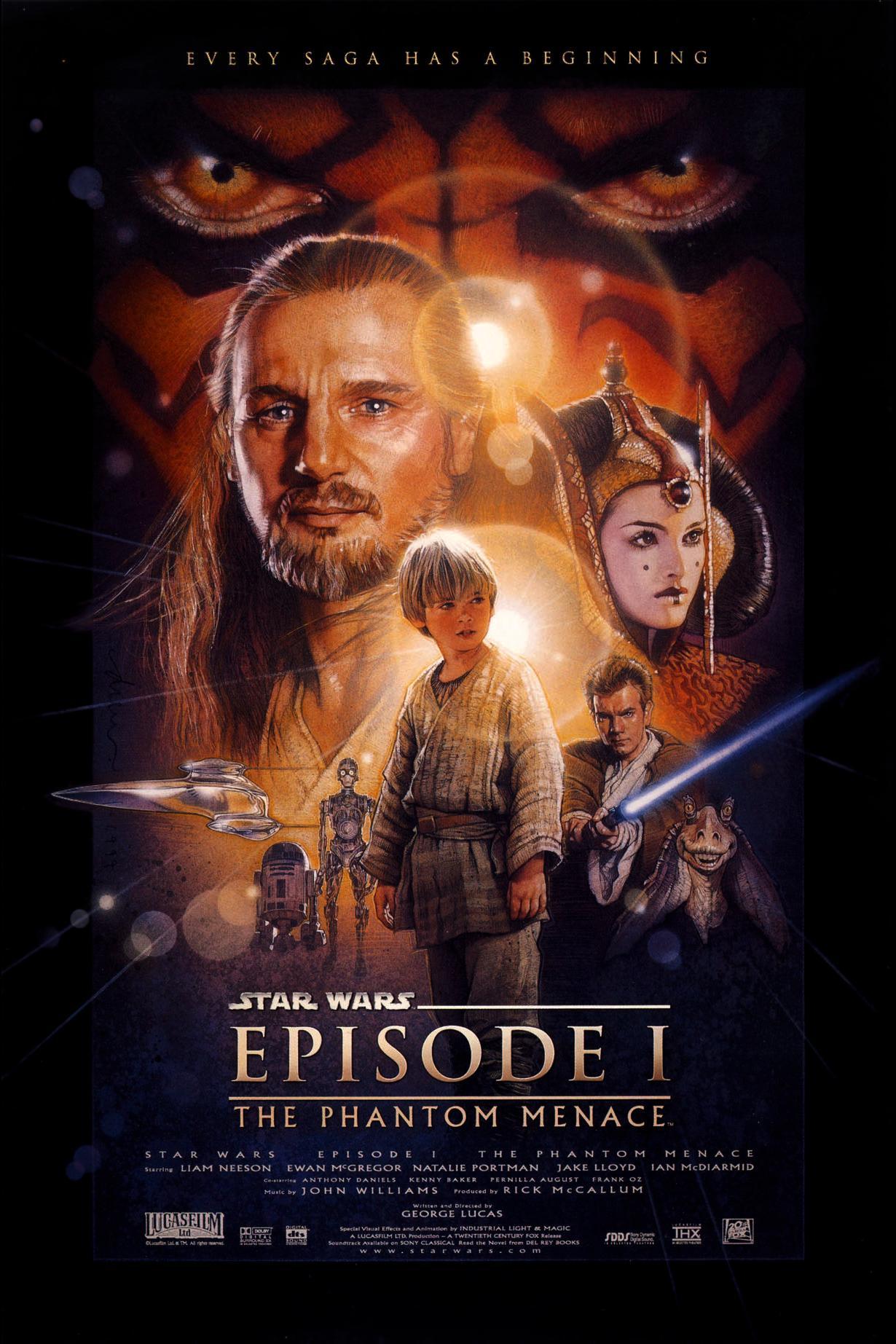 Πόστερ της ταινίας «Ο Πόλεμος των Άστρων: Επεισόδιο 1 – Η Αόρατη Απειλή (1999)»